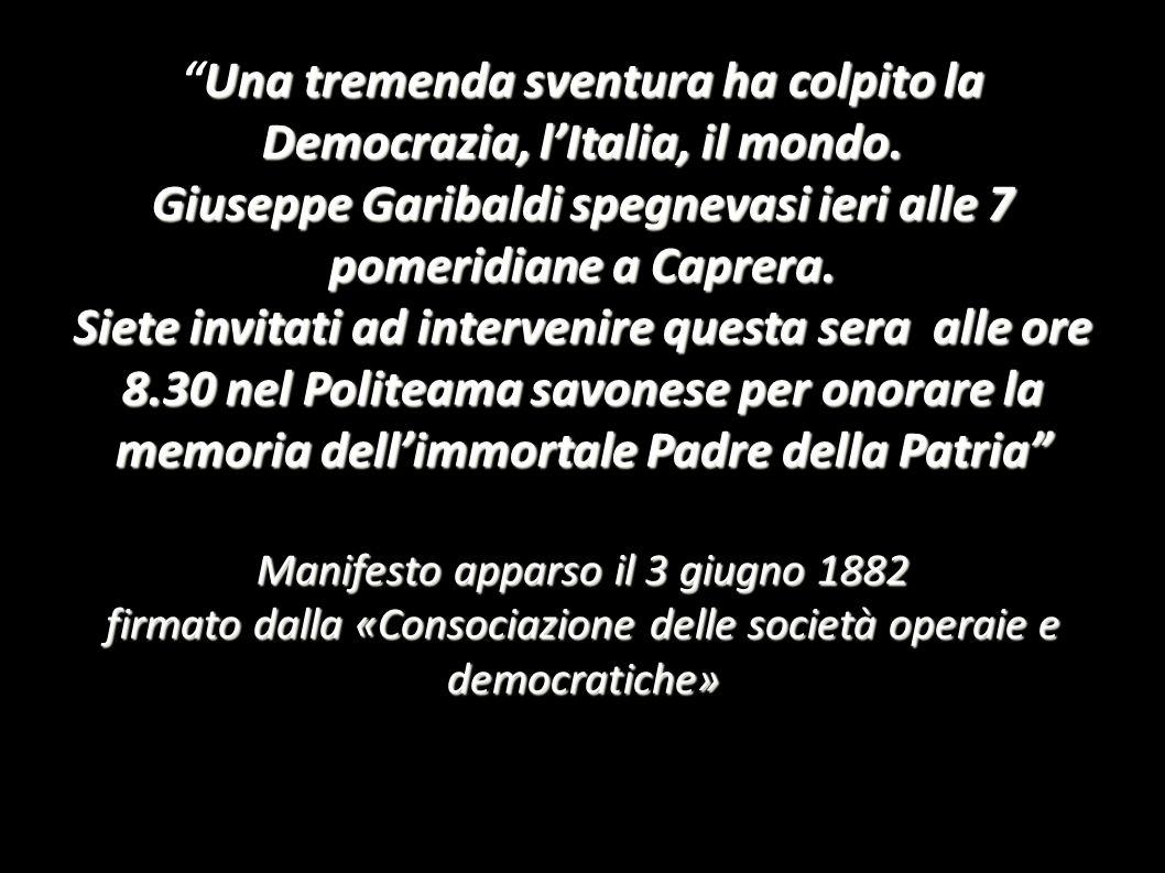 Una tremenda sventura ha colpito la Democrazia, l'Italia, il mondo