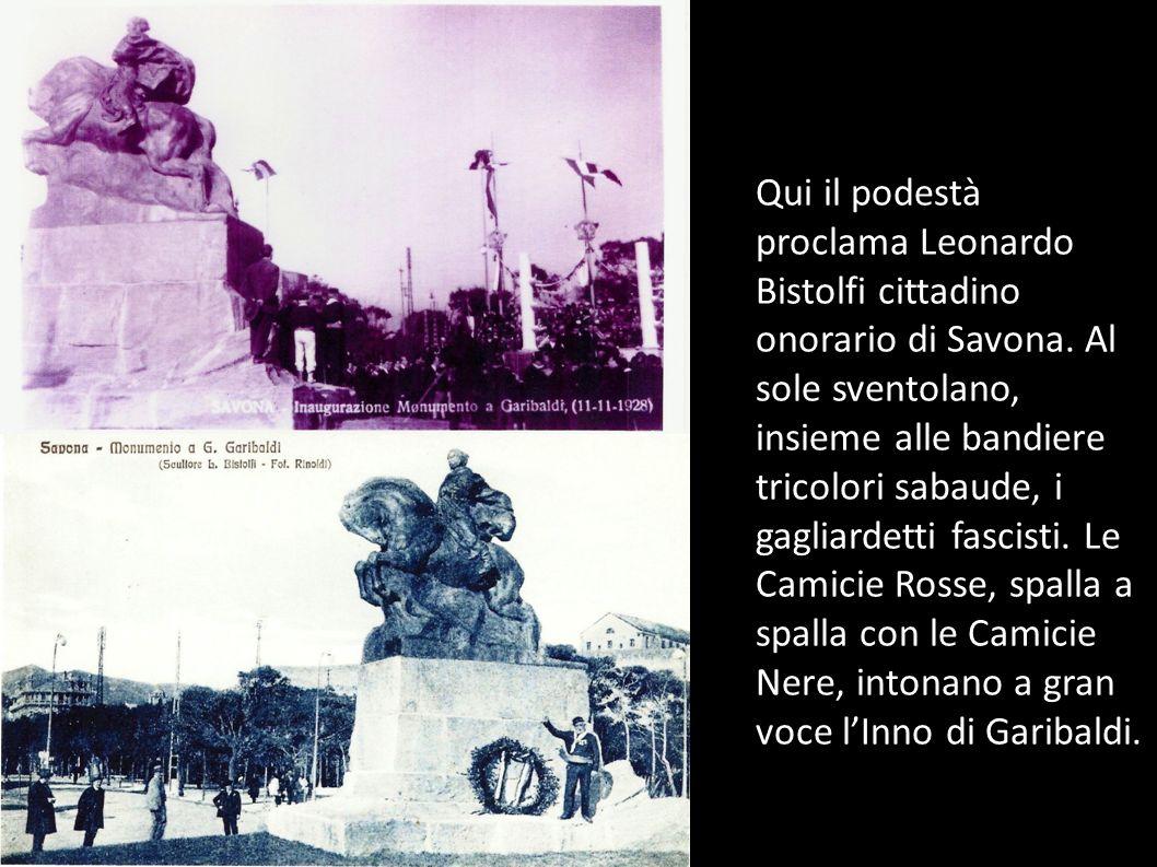Qui il podestà proclama Leonardo Bistolfi cittadino onorario di Savona