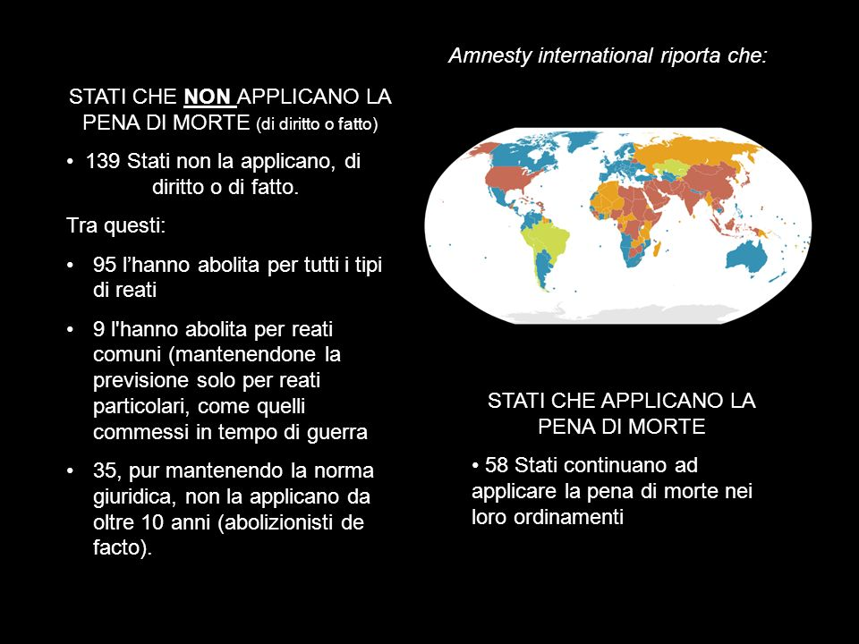 Amnesty international riporta che: