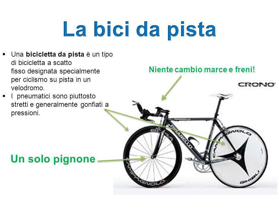 La bici da pista Un solo pignone Niente cambio marce e freni!