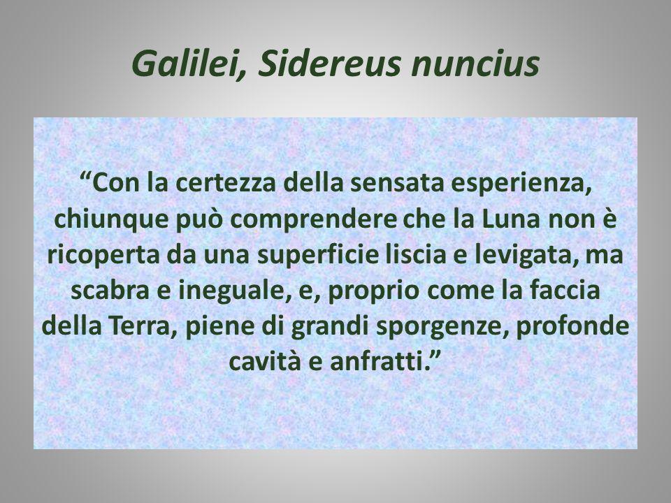 Galilei, Sidereus nuncius