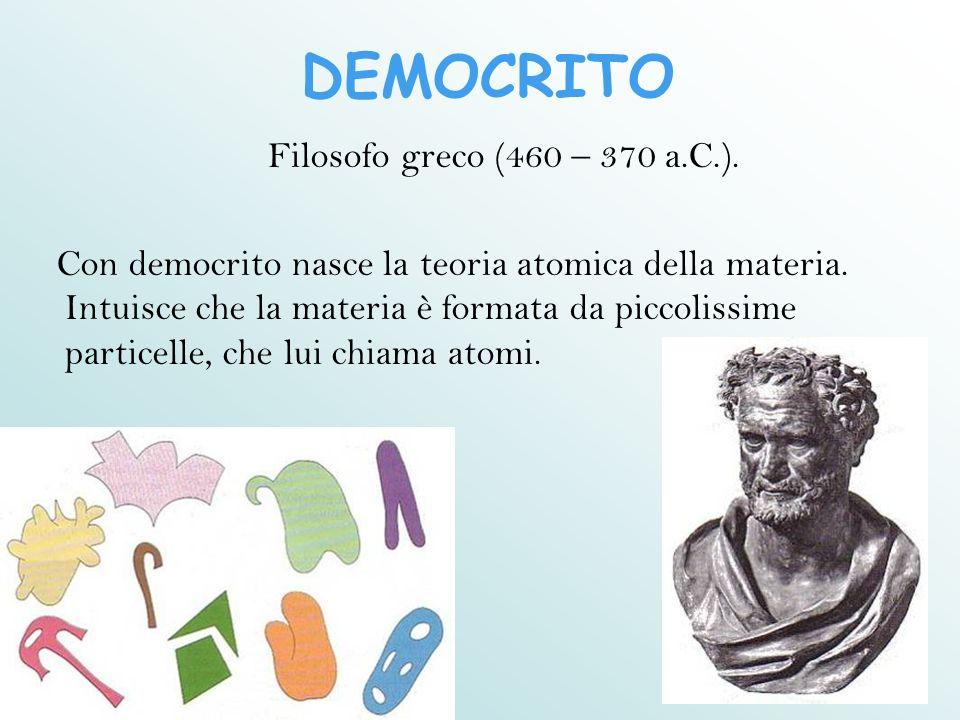 DEMOCRITO Filosofo greco (460 – 370 a.C.).