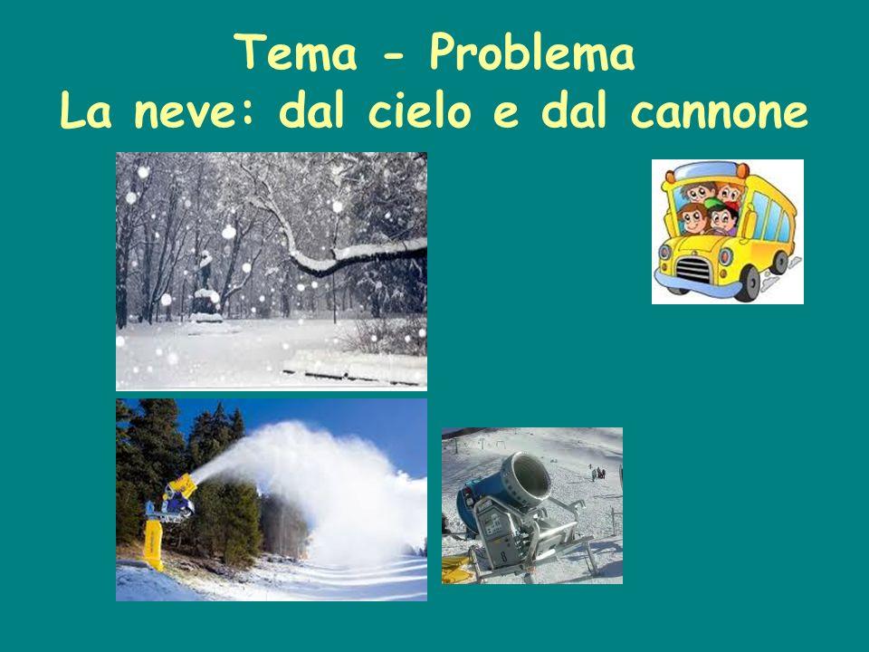 Tema - Problema La neve: dal cielo e dal cannone