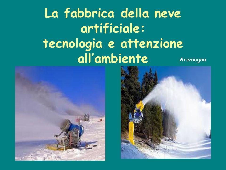 La fabbrica della neve artificiale: tecnologia e attenzione all'ambiente