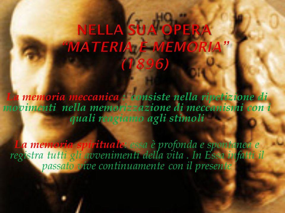 Nella sua opera Materia e memoria (1896)