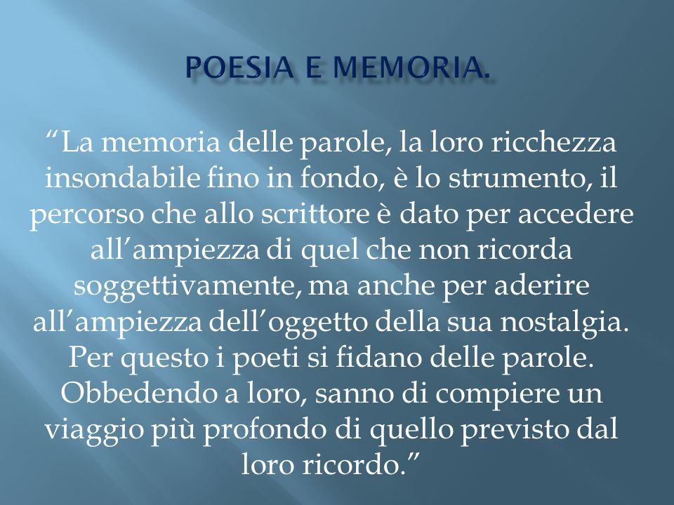 poesia e memoria.