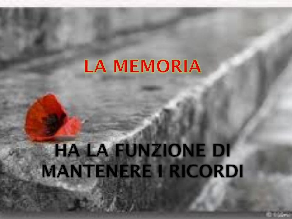 LA memoria ha la funzione di mantenere i ricordi