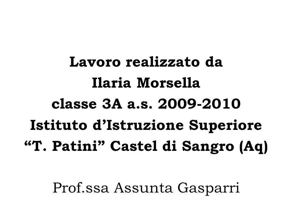 Istituto d'Istruzione Superiore T. Patini Castel di Sangro (Aq)
