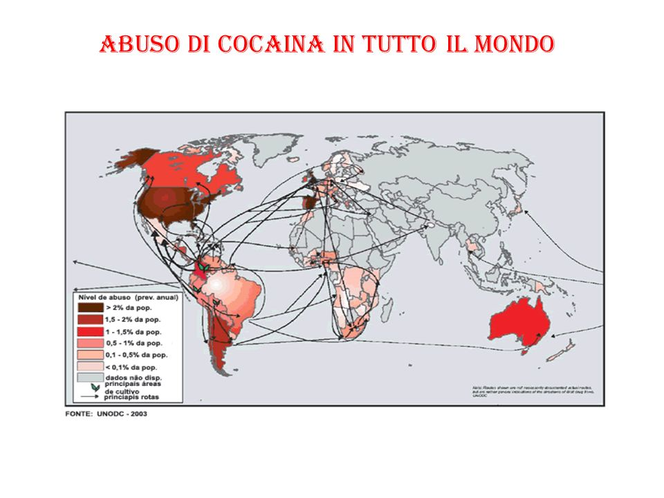 ABUSO DI COCAINA IN TUTTO IL MONDO