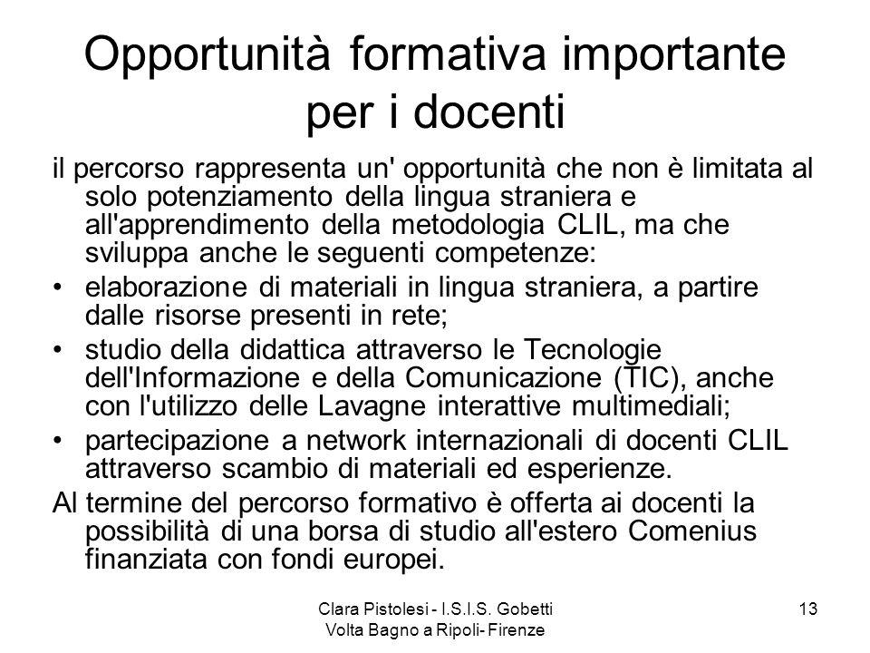 Opportunità formativa importante per i docenti