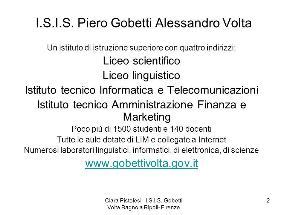Percorsi clil in collaborazione con l 39 universit di - Liceo gobetti bagno a ripoli ...