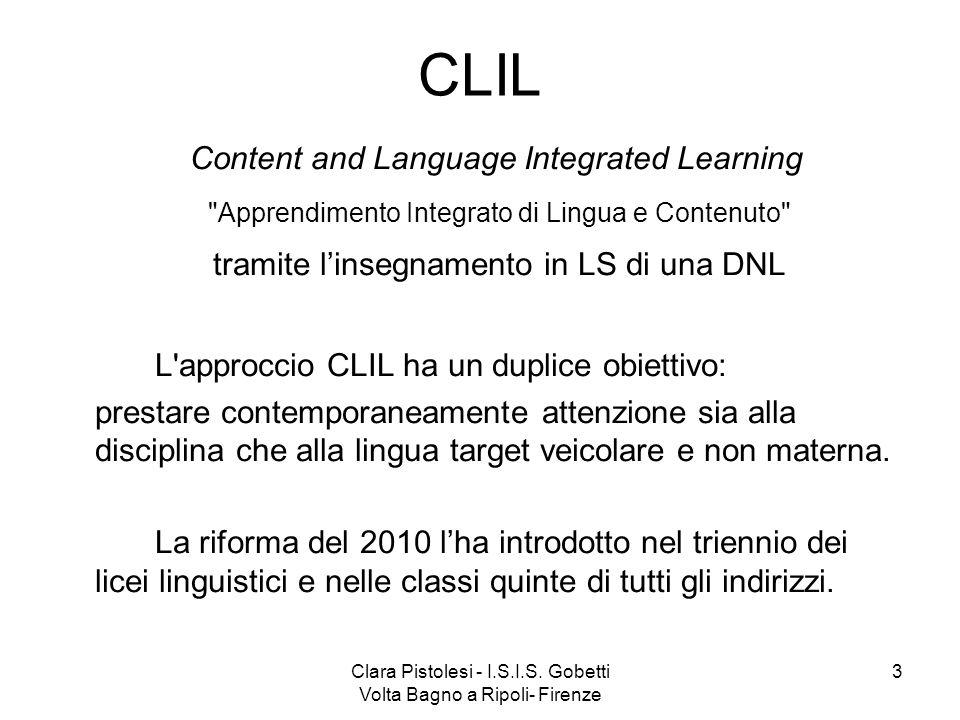 CLIL tramite l'insegnamento in LS di una DNL