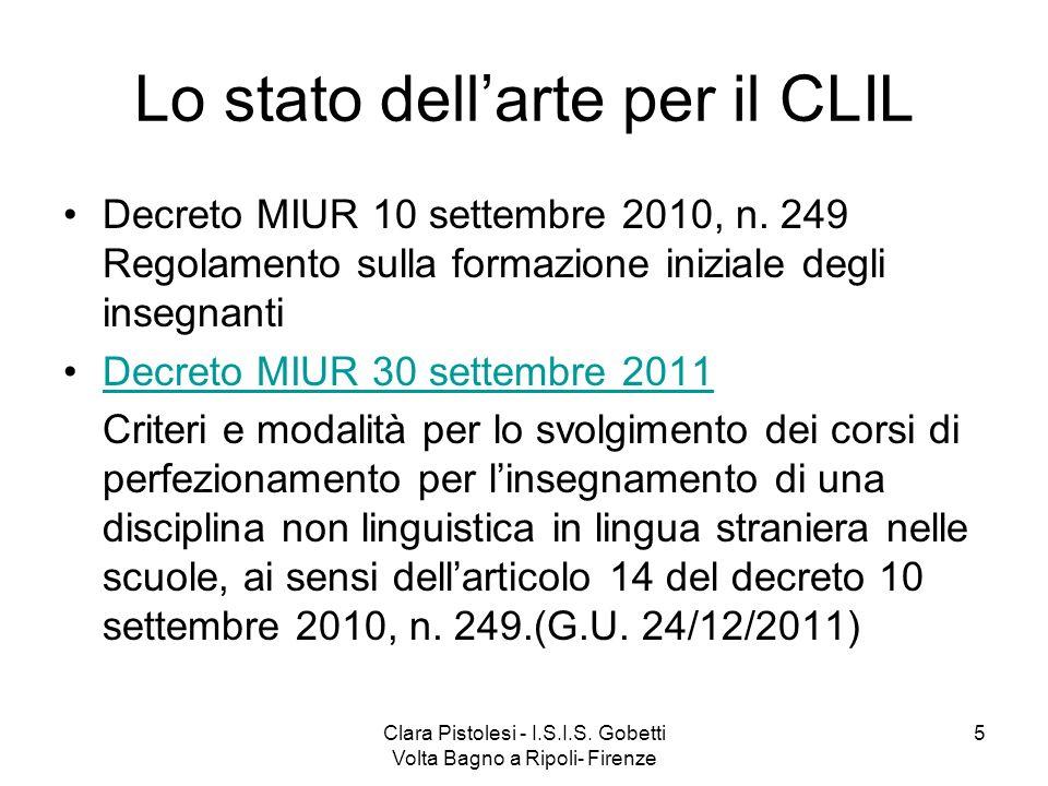 Lo stato dell'arte per il CLIL