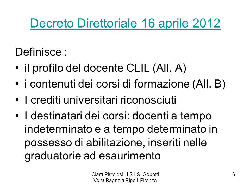 Decreto Direttoriale 16 aprile 2012