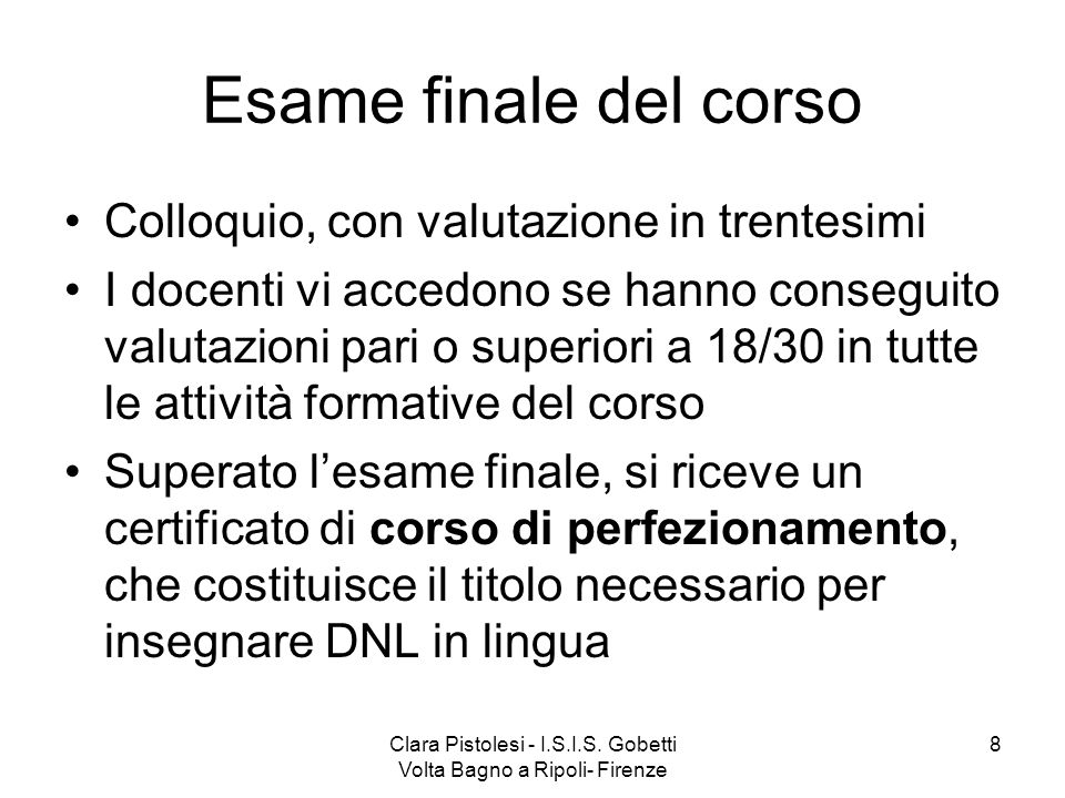 Clara Pistolesi - I.S.I.S. Gobetti Volta Bagno a Ripoli- Firenze