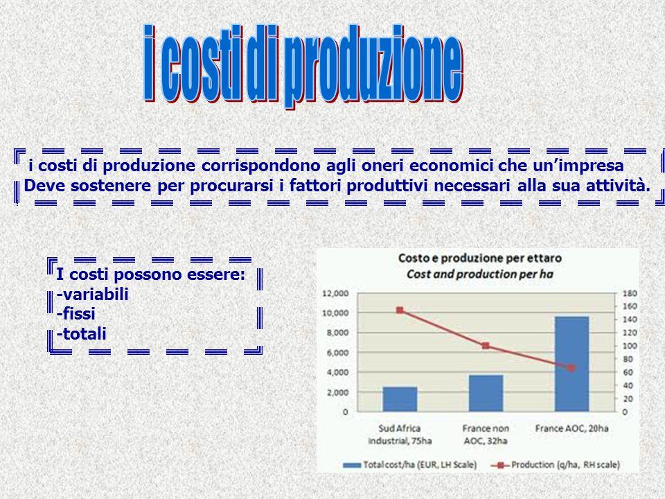 i costi di produzione i costi di produzione corrispondono agli oneri economici che un'impresa.