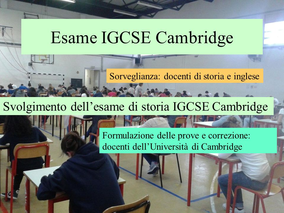 Esame IGCSE Cambridge Svolgimento dell'esame di storia IGCSE Cambridge