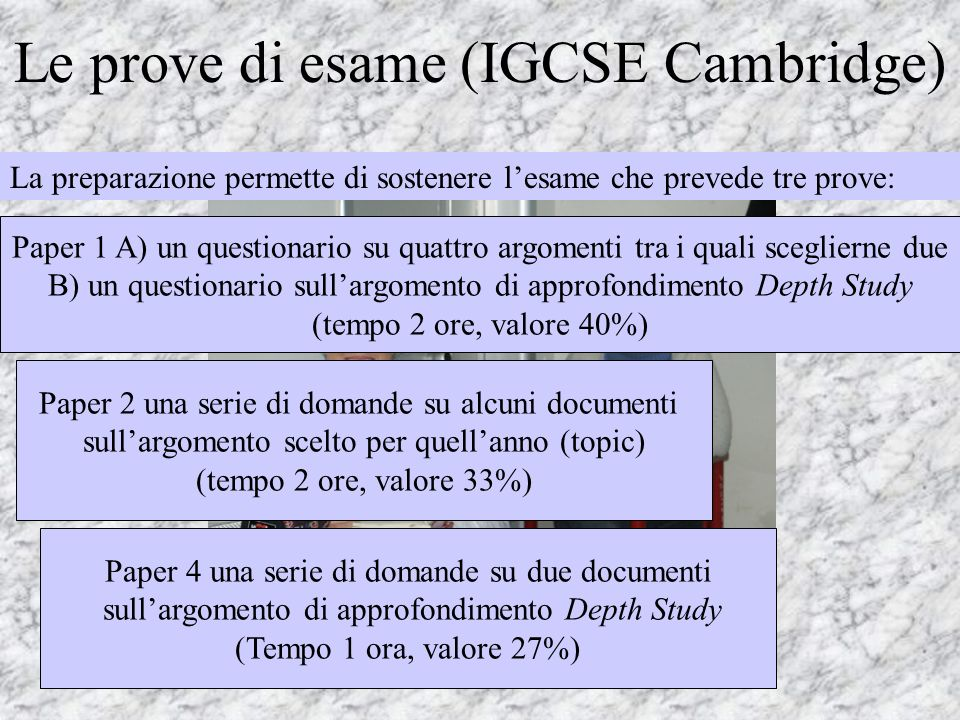 Le prove di esame (IGCSE Cambridge)