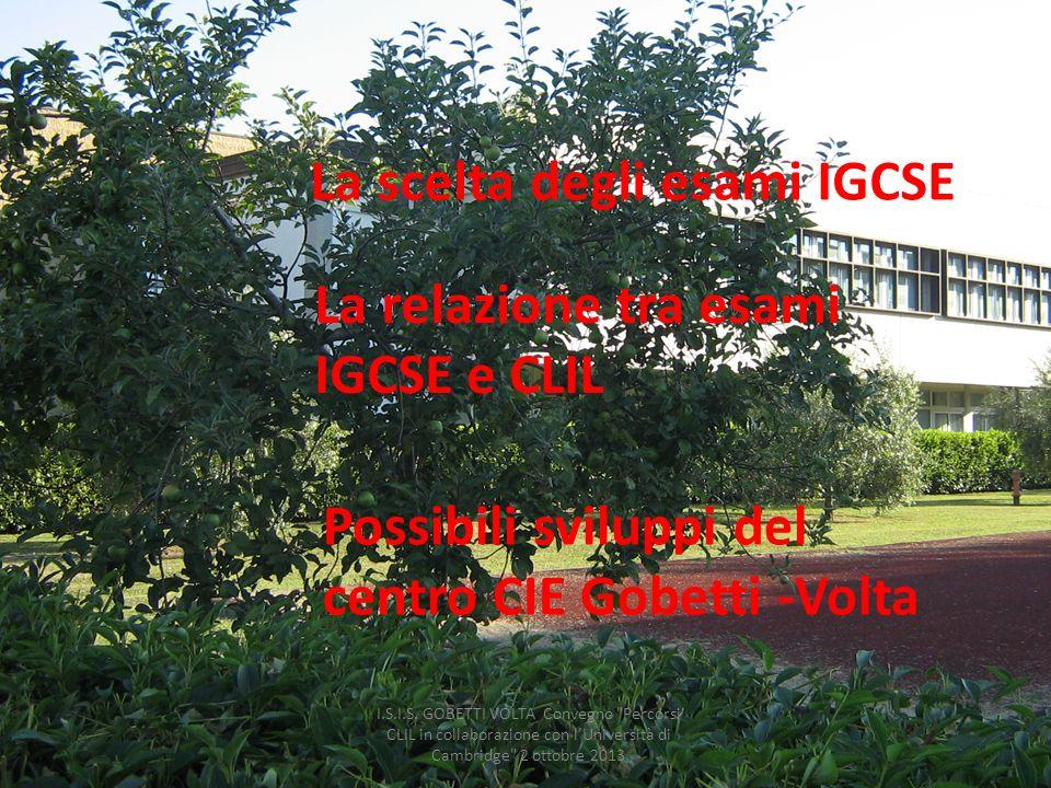 La relazione tra esami IGCSE e CLIL