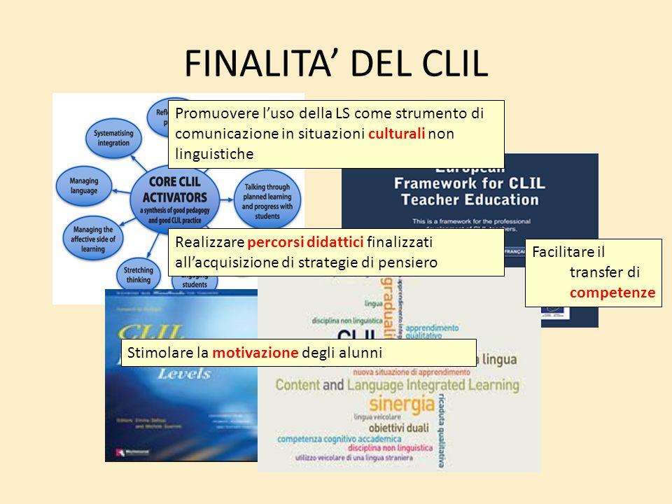 FINALITA' DEL CLIL Promuovere l'uso della LS come strumento di