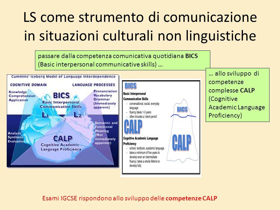 LS come strumento di comunicazione in situazioni culturali non linguistiche