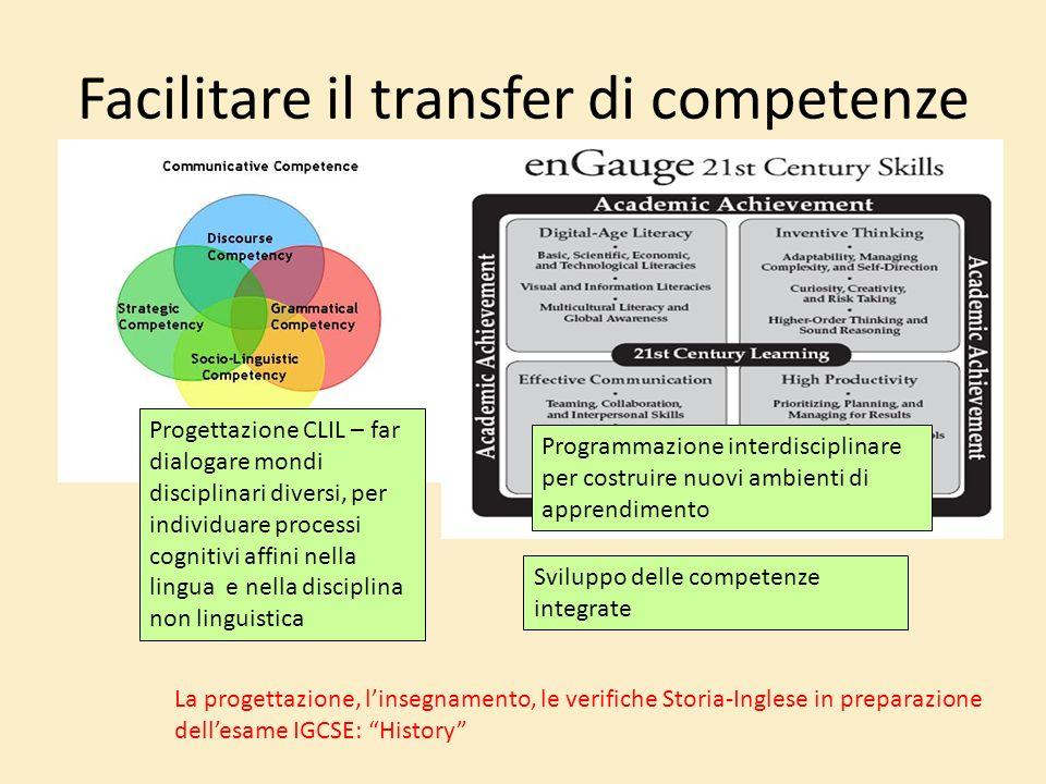 Facilitare il transfer di competenze