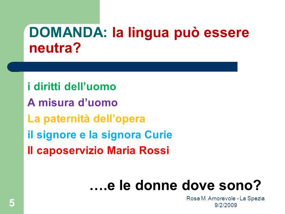 DOMANDA: la lingua può essere neutra