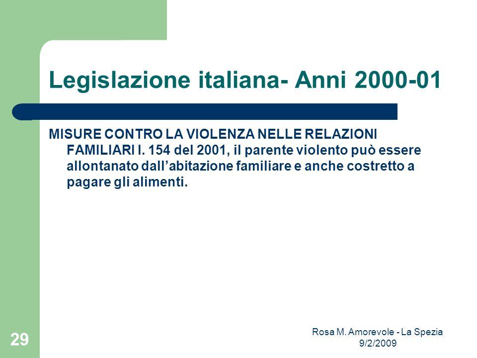 Legislazione italiana- Anni 2000-01