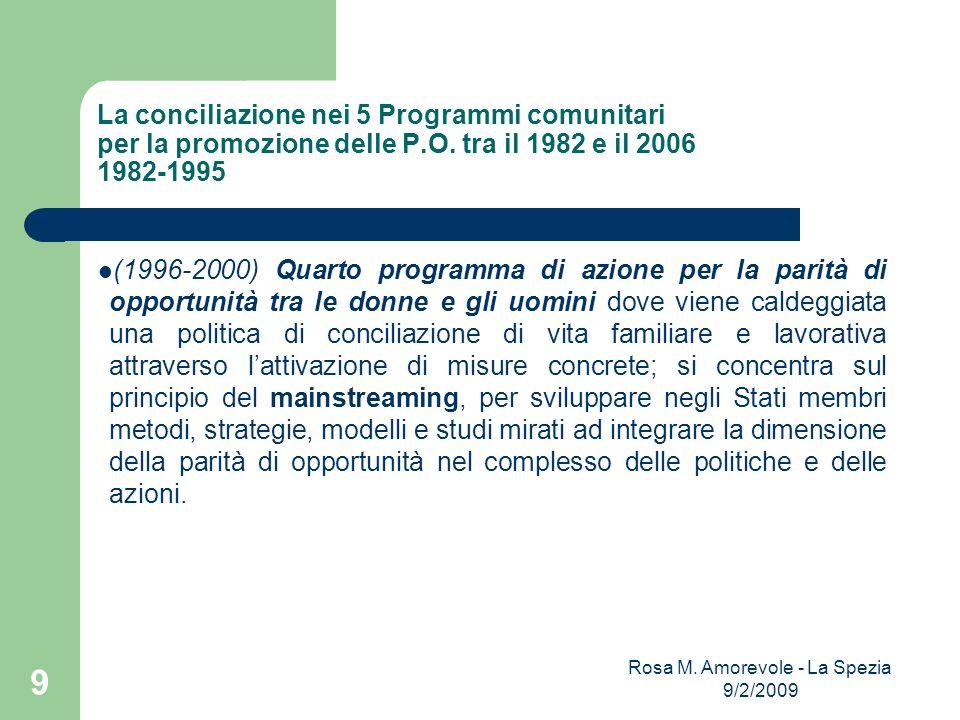 Rosa M. Amorevole - La Spezia 9/2/2009