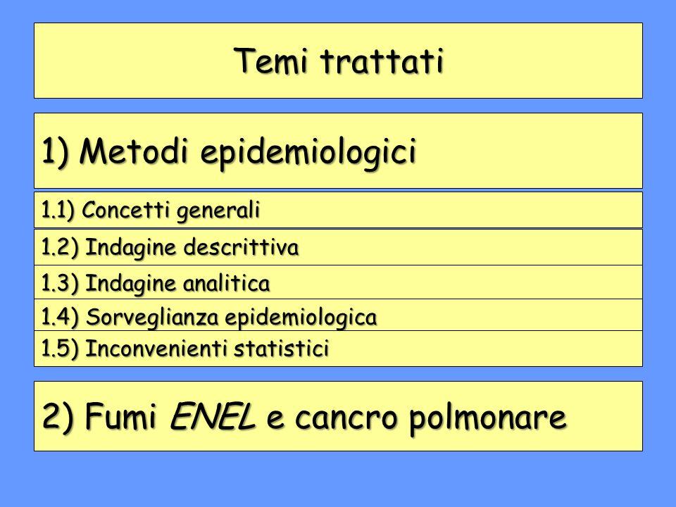 1) Metodi epidemiologici