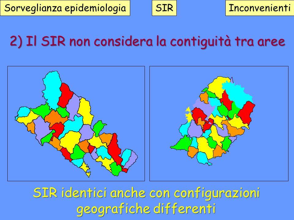 2) Il SIR non considera la contiguità tra aree