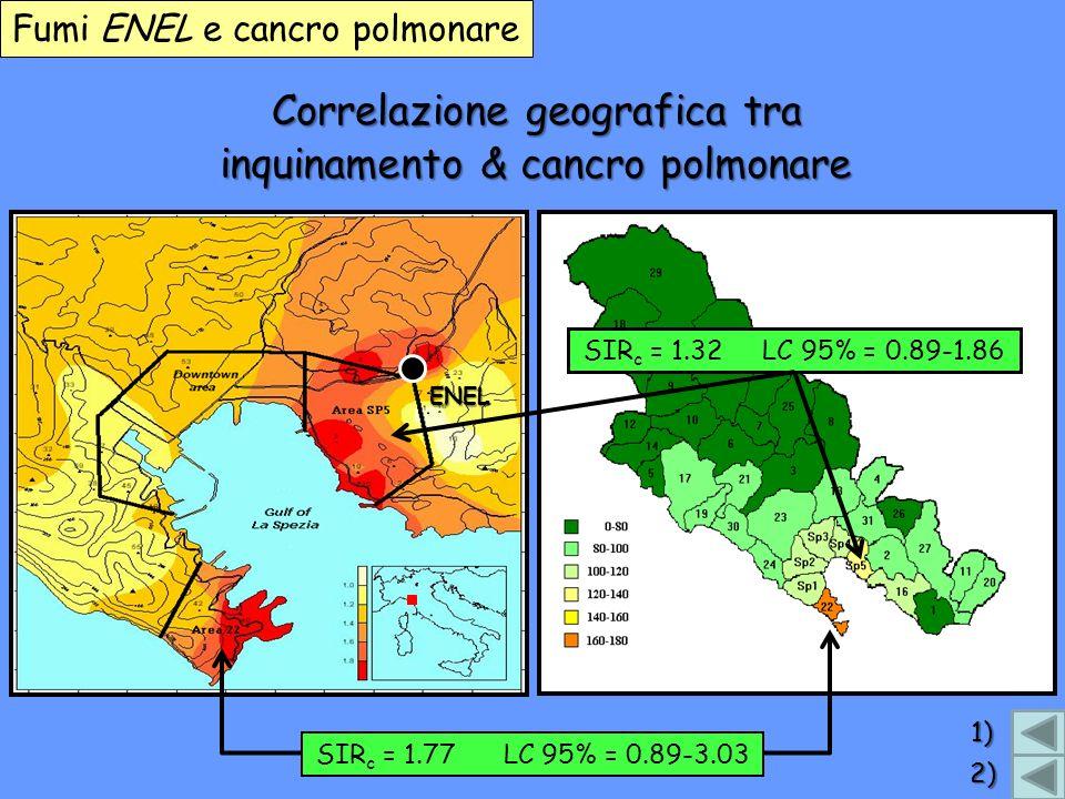 Correlazione geografica tra inquinamento & cancro polmonare