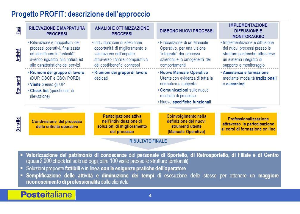 Progetto PROFIT: descrizione dell'approccio