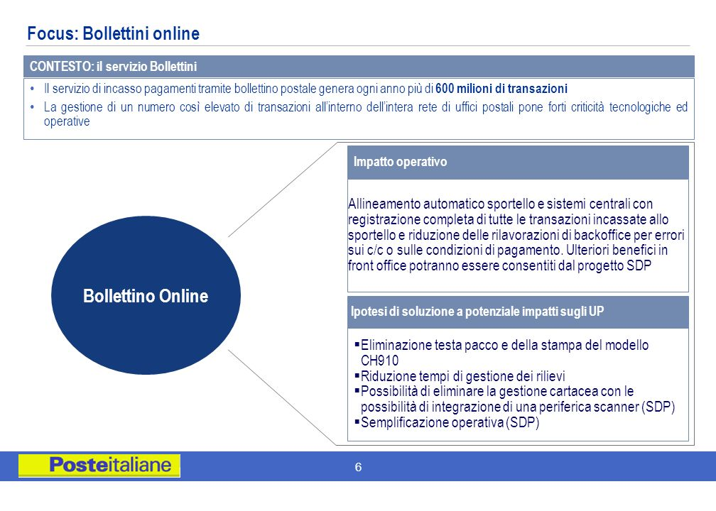 Focus: Bollettini online