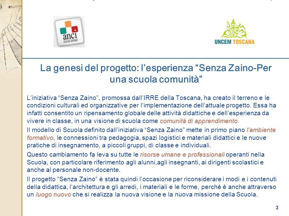 La genesi del progetto: l'esperienza Senza Zaino-Per una scuola comunità
