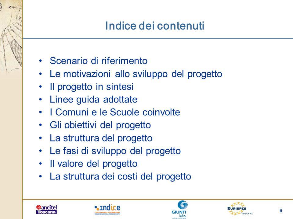Indice dei contenuti Scenario di riferimento