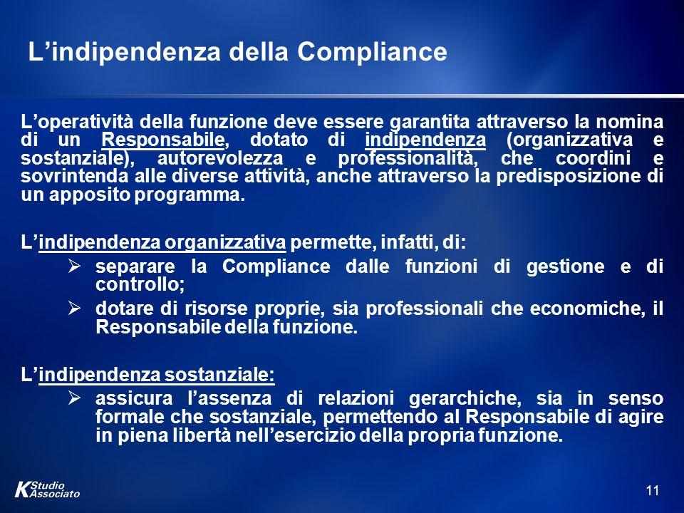 L'indipendenza della Compliance