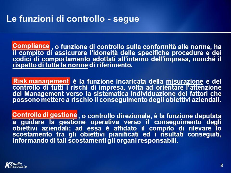 Le funzioni di controllo - segue