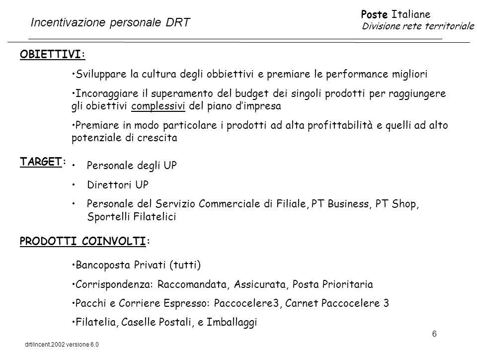 Incentivazione personale DRT