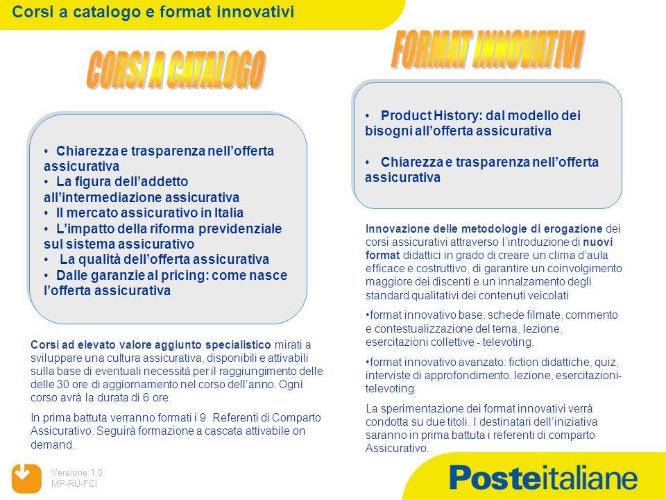 Corsi a catalogo e format innovativi