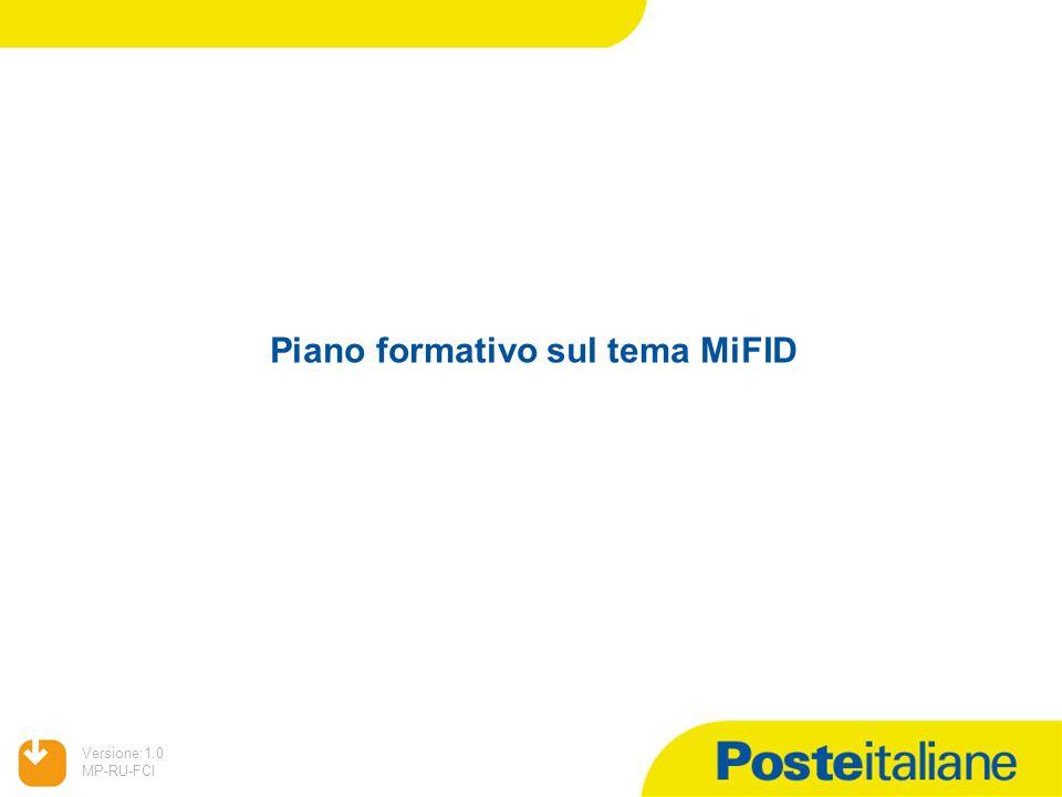 Piano formativo sul tema MiFID