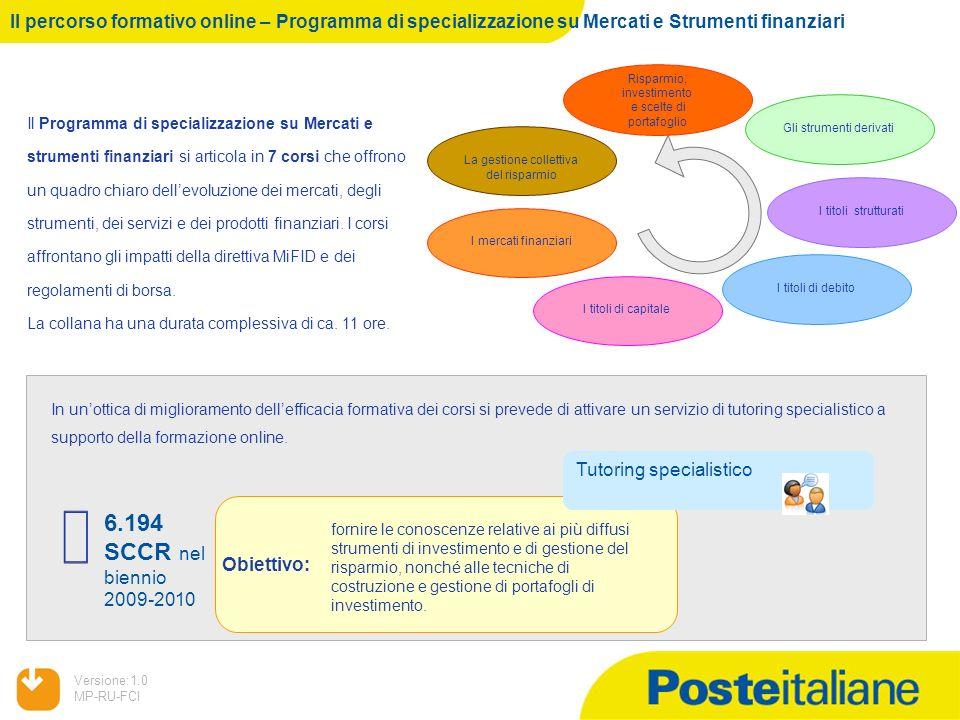 Il percorso formativo online – Programma di specializzazione su Mercati e Strumenti finanziari