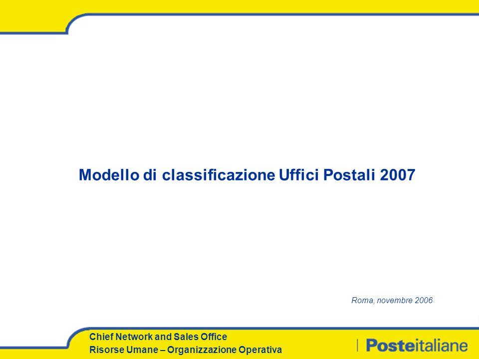 Modello di classificazione Uffici Postali 2007