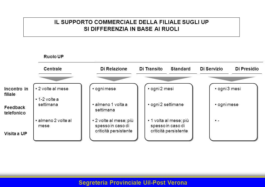 ML 16.23.8/22 - 040302W - 34264/MN IL SUPPORTO COMMERCIALE DELLA FILIALE SUGLI UP SI DIFFERENZIA IN BASE AI RUOLI.