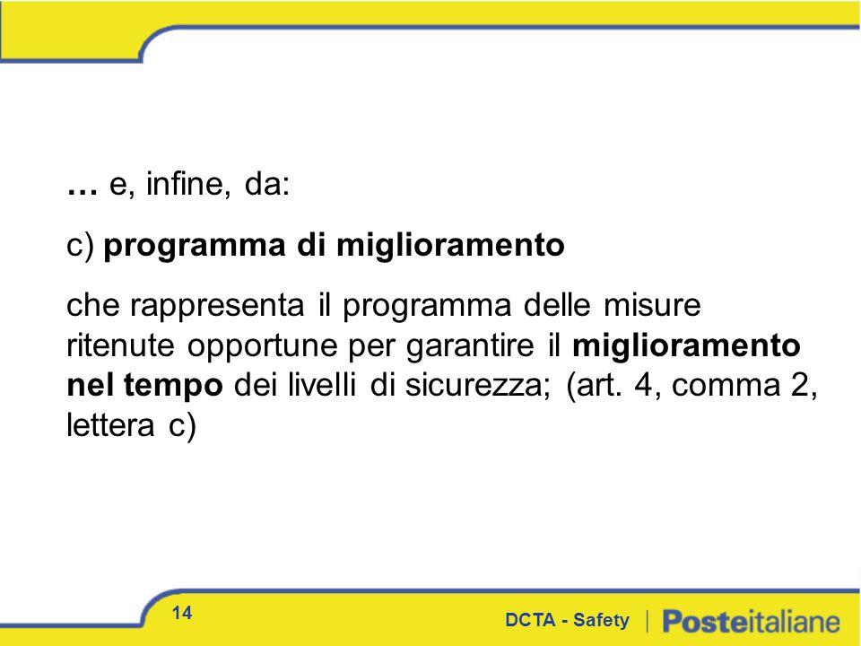 c) programma di miglioramento