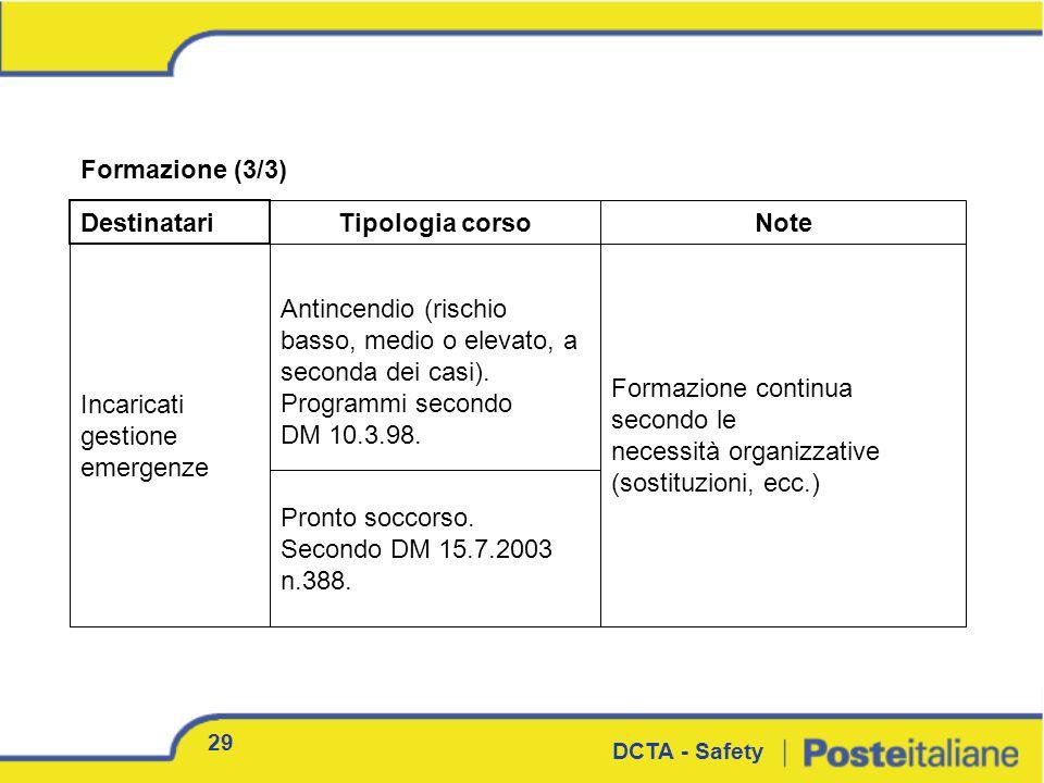 necessità organizzative (sostituzioni, ecc.)