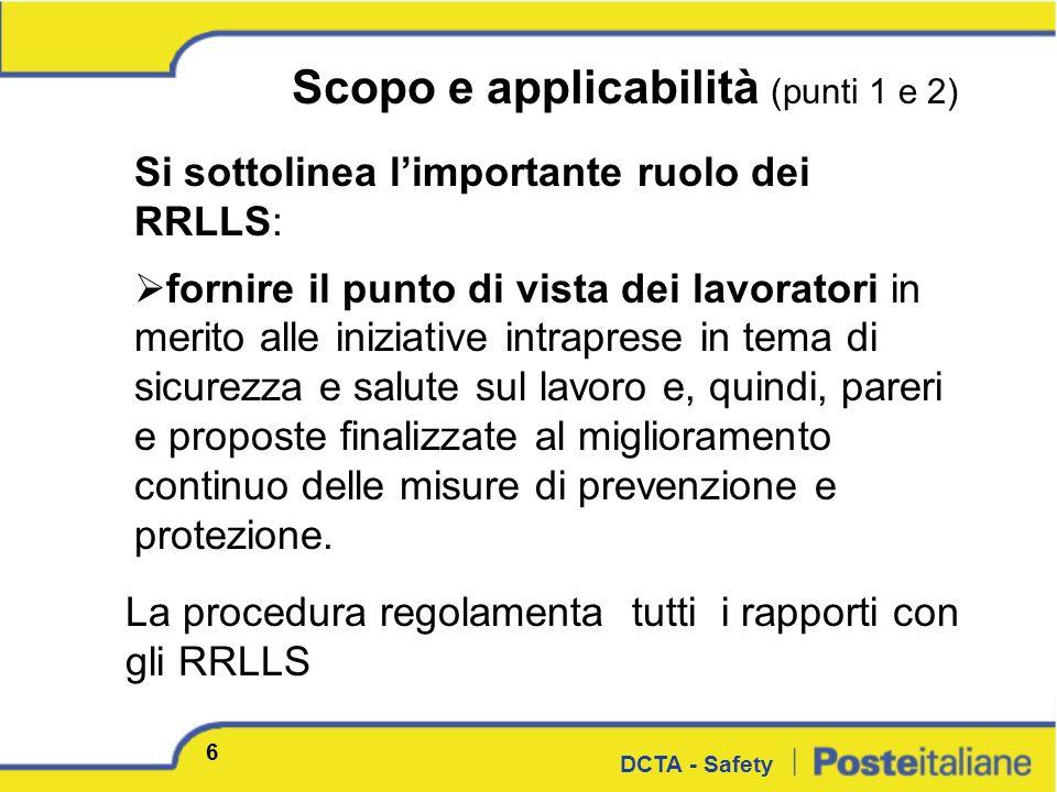 Scopo e applicabilità (punti 1 e 2)