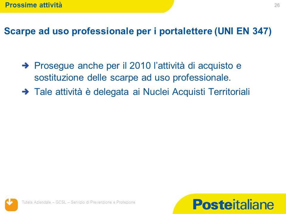 Scarpe ad uso professionale per i portalettere (UNI EN 347)