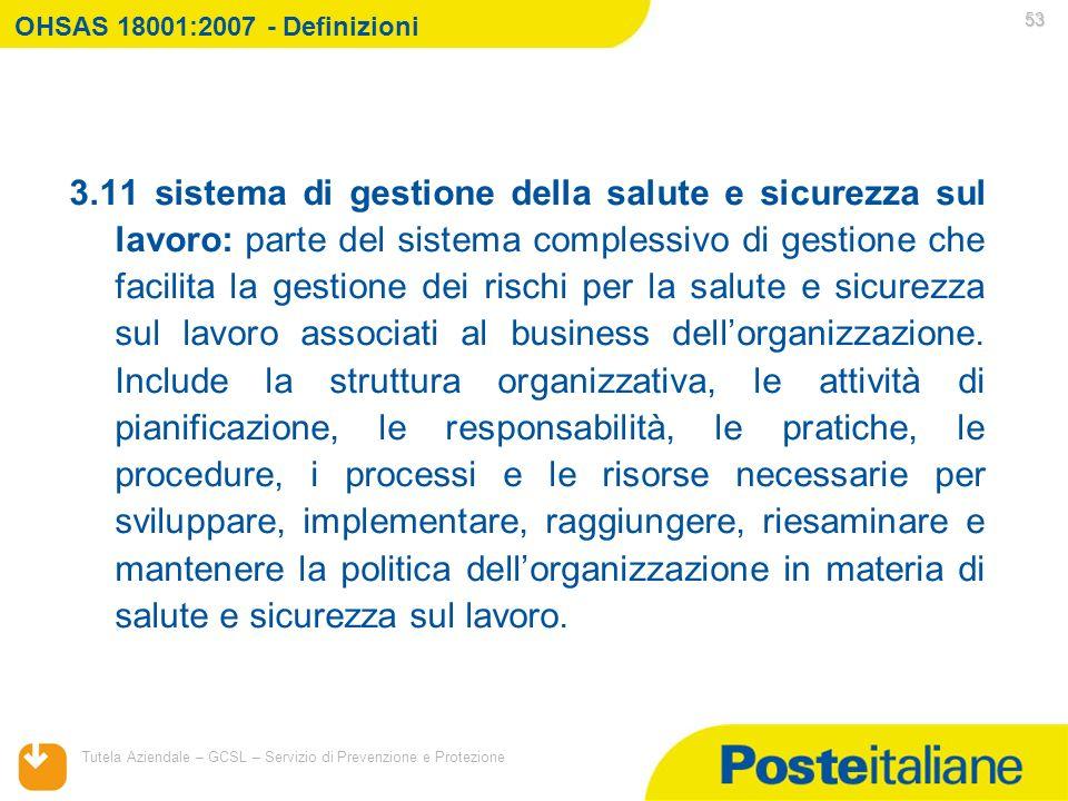 OHSAS 18001:2007 - Definizioni Titolo presentazione.