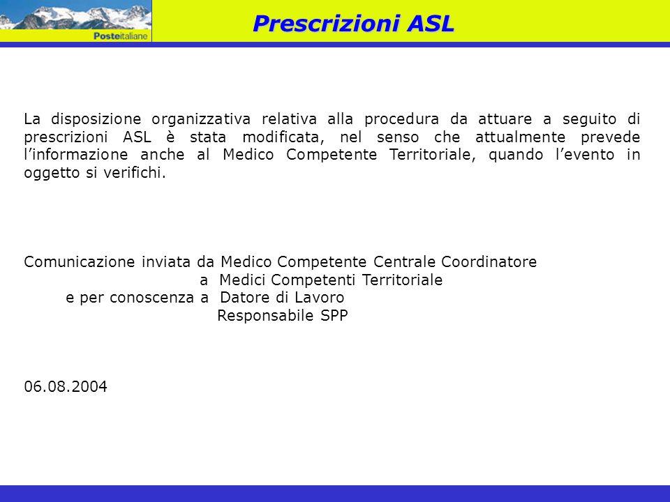 Prescrizioni ASL